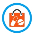 Drugs Shopping Bag Rounded Icon vector image vector image