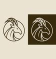 elegant goat head emblem vector image vector image