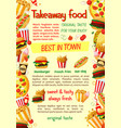 fast food burger and drink banner template vector image vector image