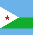 flag in colors of djibouti image vector image vector image