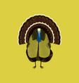 flat shading style icon turkey vector image