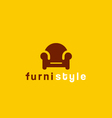 Furniture symbol vector image vector image
