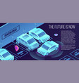 future smart parking banner isometric style vector image