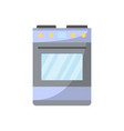 gas stove isolated icon in flat style vector image