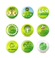 Glass eco badges vector image