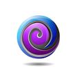 Glossy Internet Company Logo Icon vector image vector image