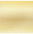 gold wavy dotted background vector image vector image
