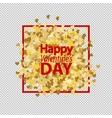 Golden glitter love heart vector image vector image
