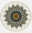 greek round mandala pattern colorful floral vector image