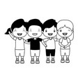 group boys and girls vector image vector image