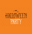 halloween party background card celebration vector image vector image