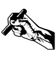 hand with cigar vector image vector image