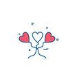 heart love heart balloon icon design vector image vector image