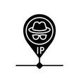 hidden ip address black glyph icon