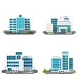 Hospital Building Set vector image
