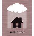 House under rain vector | Price: 1 Credit (USD $1)