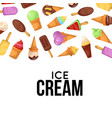 ice cream cone advertising banner vector image
