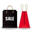 icon bag shop paper design vector image
