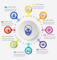 infographic template with spa icons vector image vector image