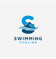 letter s for swimming logo icon template vector image