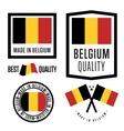 Made in Belgium label set vector image vector image