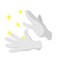 Magician gloves cartoon icon vector image vector image