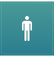 Man flat icon vector image