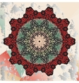 Mandala on triangles background vector image vector image