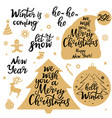 merry christmas new year 2020 let it snow vector image vector image