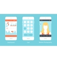 Mobile UI vector image vector image