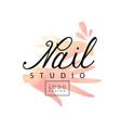 nail studio logo design creative template for vector image