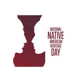 national native american heritage day holiday vector image vector image
