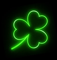 neon green shamrock vector image
