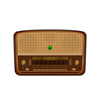 old radio realistic of an old radio receiver vector image vector image
