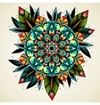 Old school tattoo flower vector image vector image