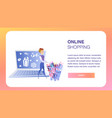 online shopping website element template vector image vector image