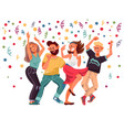people on party cartoon female excitement dance vector image vector image