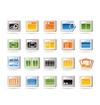 programming and computer icons vector image vector image