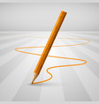 realistic wooden pencil on a white background vector image