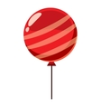 Red balloon icon isometric 3d style vector image