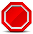 red road sign stop sign clip-art on white vector image vector image