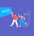 refer a friend and audience announcement on vector image