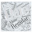 Regular Dating Word Cloud Concept vector image vector image