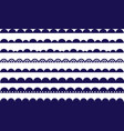 scallop waves navy border brush vector image vector image
