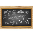School Board on wooden background vector image vector image