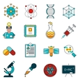 Science Line Icons Set vector image vector image