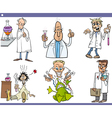 scientists characters cartoon set vector image vector image
