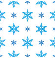 seamless winter new year pattern with snowflakes vector image
