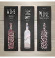 set art wine banners and labels design vector image vector image