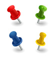 Set colored pins vector image vector image